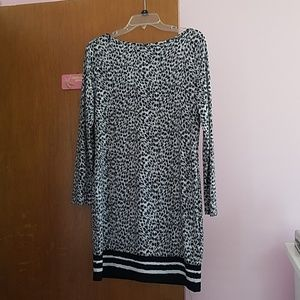 Michael Kors Long Sleeve Shift Dress